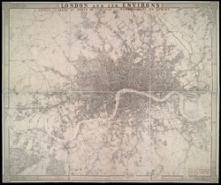 London and its environs. Levels taken by order of the Commissioners of Sewers